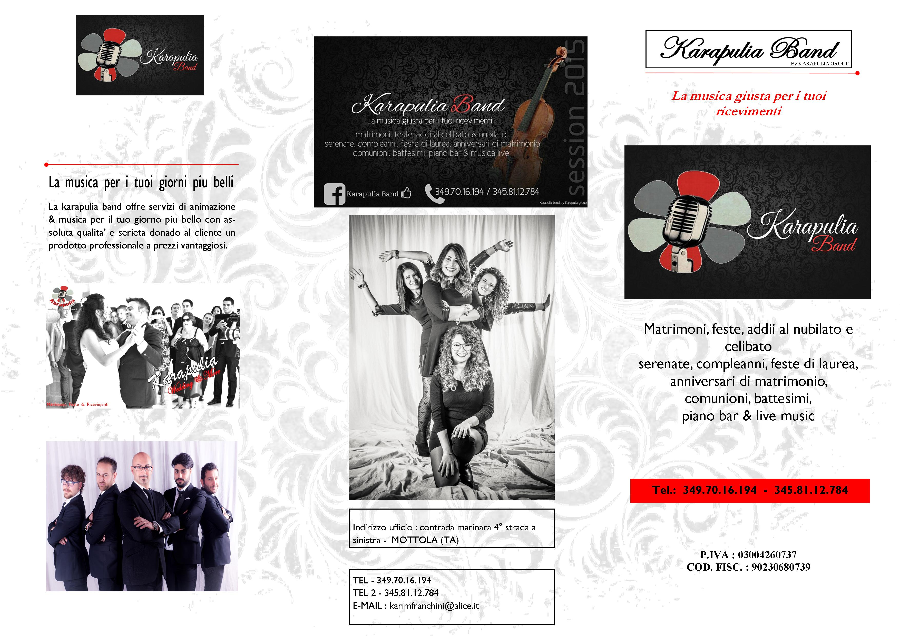 BROCHURE KARAPULIA BAND RETRO